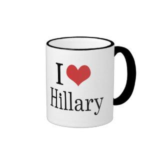 I corazón Hillary Taza De Dos Colores