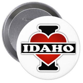 I corazón Idaho Pin Redondo De 4 Pulgadas