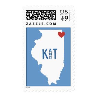 I corazón Illinois - sello adaptable de la ciudad
