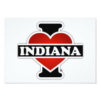 "I corazón Indiana Invitación 5"" X 7"""