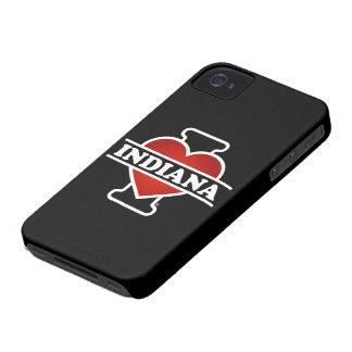 I corazón Indiana iPhone 4 Case-Mate Carcasas