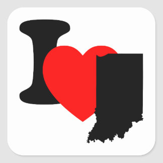 I corazón Indiana Calcomania Cuadradas Personalizada