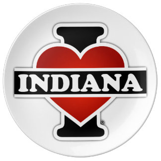 I corazón Indiana Platos De Cerámica