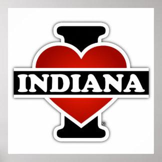 I corazón Indiana Póster