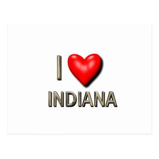 I corazón Indiana Tarjetas Postales