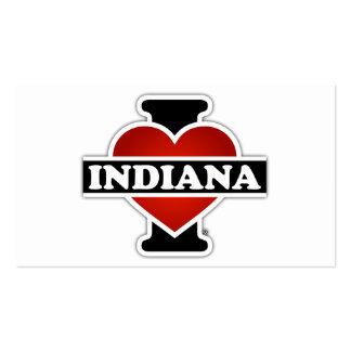 I corazón Indiana Tarjetas De Visita