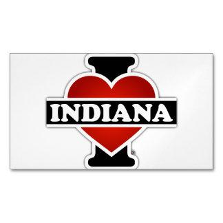 I corazón Indiana Tarjetas De Visita Magnéticas (paquete De 25)