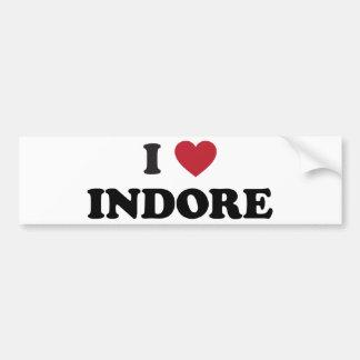 I corazón Indore la India Pegatina De Parachoque