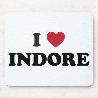 I corazón Indore la India Tapetes De Ratones