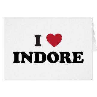 I corazón Indore la India Tarjeta