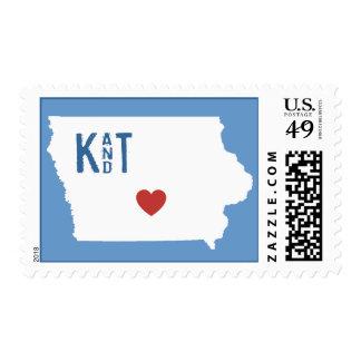I corazón Iowa - sello adaptable de la ciudad