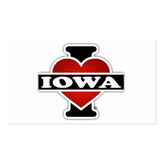 I corazón Iowa Tarjetas De Visita