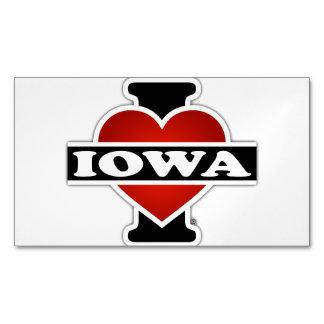 I corazón Iowa Tarjetas De Visita Magnéticas (paquete De 25)