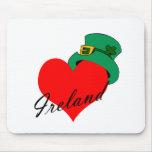 I corazón Irlanda Tapete De Raton