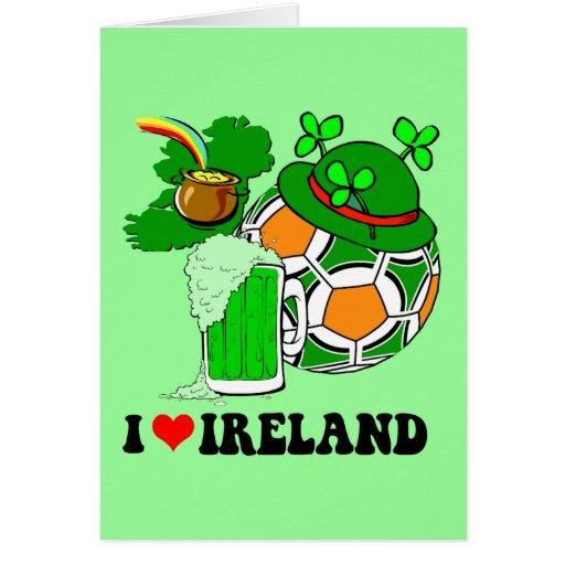 I corazón Irlanda Tarjeta De Felicitación