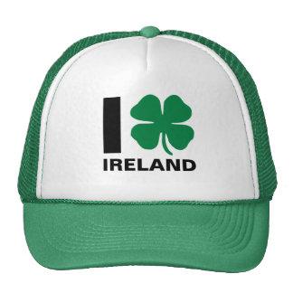 I [corazón] Irlanda - trébol Gorro