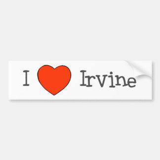 I corazón Irvine Pegatina De Parachoque