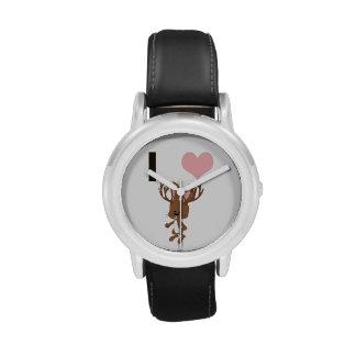 I corazón Jackalope Reloj