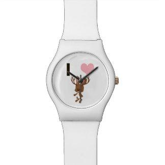 I corazón Jackalope Relojes