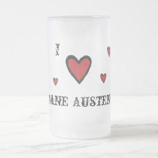 I corazón Jane Austen Taza De Cristal