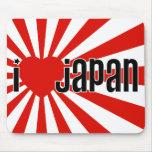 ¡I corazón Japón! Alfombrilla De Ratón