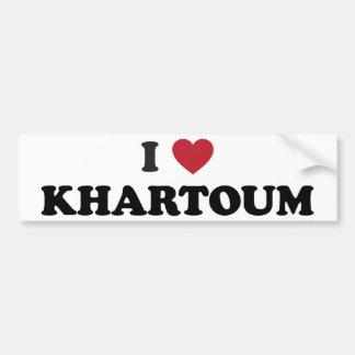 I corazón Jartum Sudán Pegatina Para Auto