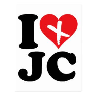 I corazón JC Tarjeta Postal