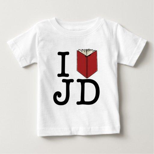 I corazón JD Playera De Bebé