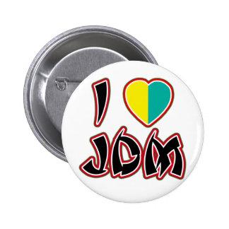 I corazón JDM (Wakaba) Pin Redondo 5 Cm