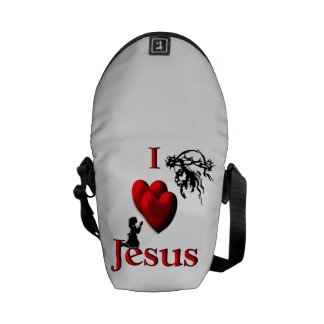 I corazón Jesús Bolsas Messenger