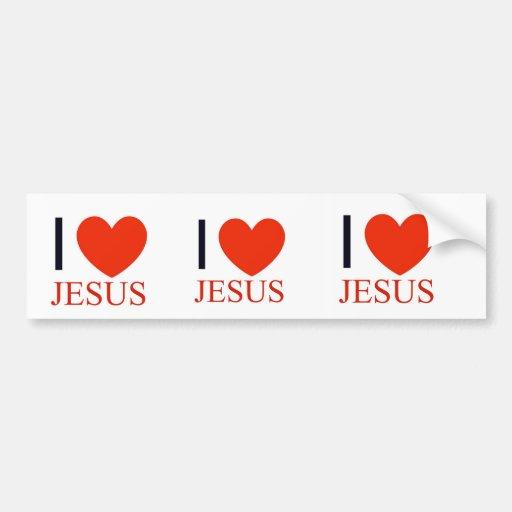I corazón Jesús Etiqueta De Parachoque