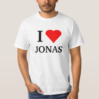 I corazón JONAS Playera
