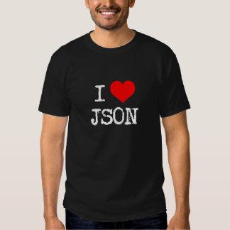 I corazón JSON Playeras