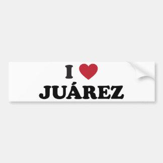 I corazón Juarez México Pegatina De Parachoque