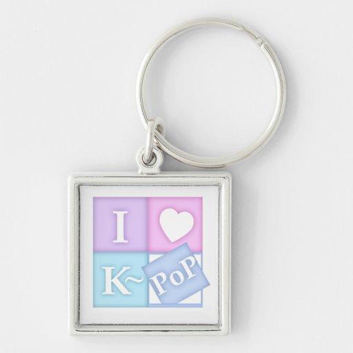 I corazón K~Pop Llavero Personalizado