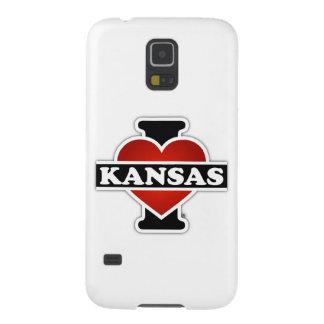 I corazón Kansas Funda De Galaxy S5