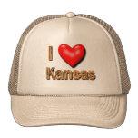 I corazón Kansas Gorras De Camionero