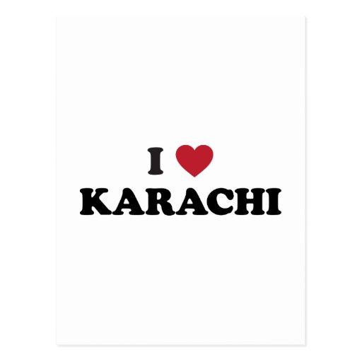 I corazón Karachi Paquistán Postal