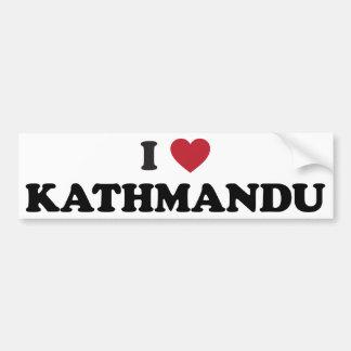 I corazón Katmandu Nepal Etiqueta De Parachoque