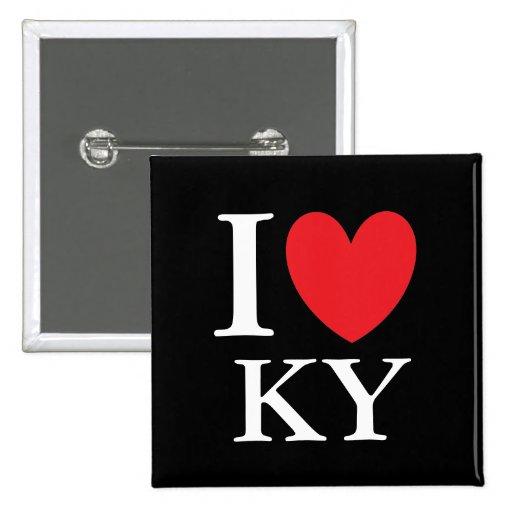 I corazón Kentucky Pin Cuadrado