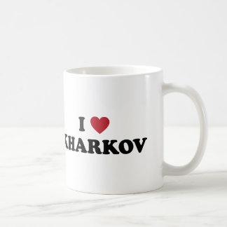 I corazón Kharkov Ucrania Tazas