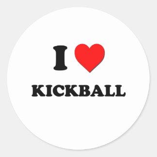 I corazón Kickball Pegatina