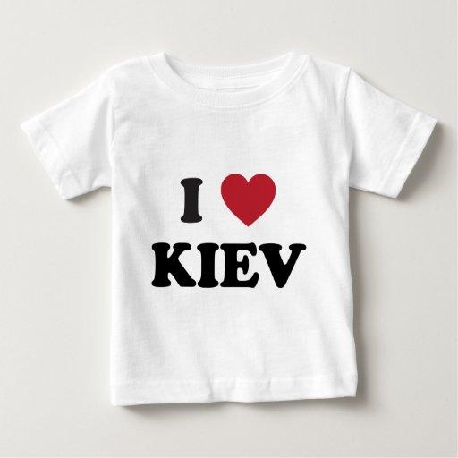 I corazón Kiev Ucrania Playera De Bebé