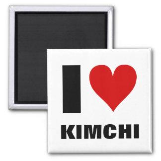 I [corazón] Kimchi Imán Cuadrado