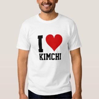 I [corazón] Kimchi Playera
