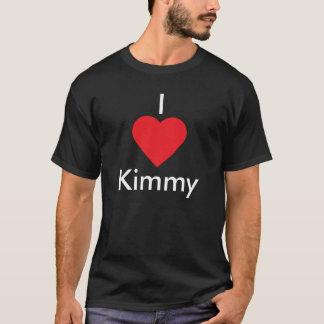 I corazón Kimmy (fondo negro) Playera