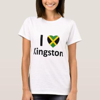I corazón Kingston (Jamaica) Playera