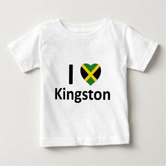 I corazón Kingston (Jamaica) Playera De Bebé