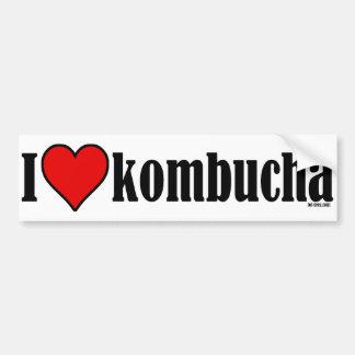 I corazón Kombucha Etiqueta De Parachoque