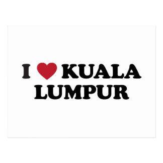 I corazón Kuala Lumpur Malasia Postal